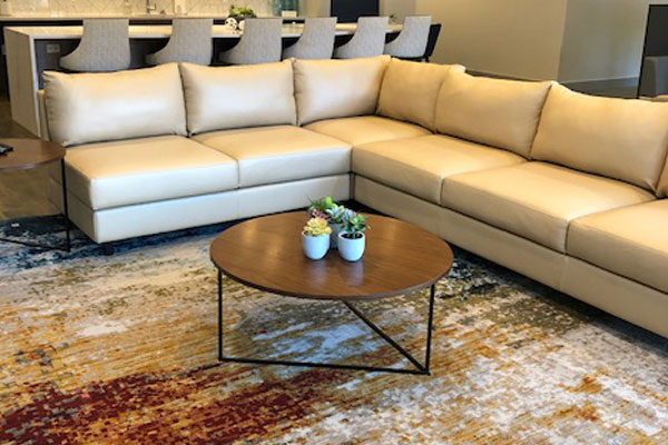 Contemporary forever clean family room rugs