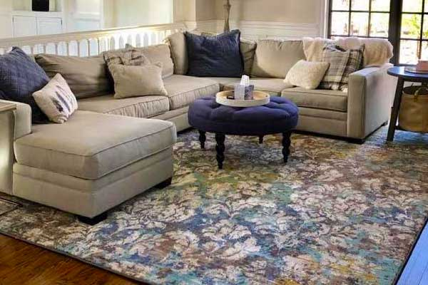 Pretty transitional area rug