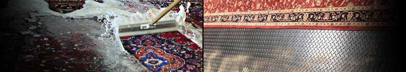 Kaoud's expert fine rug cleaning and repairs.